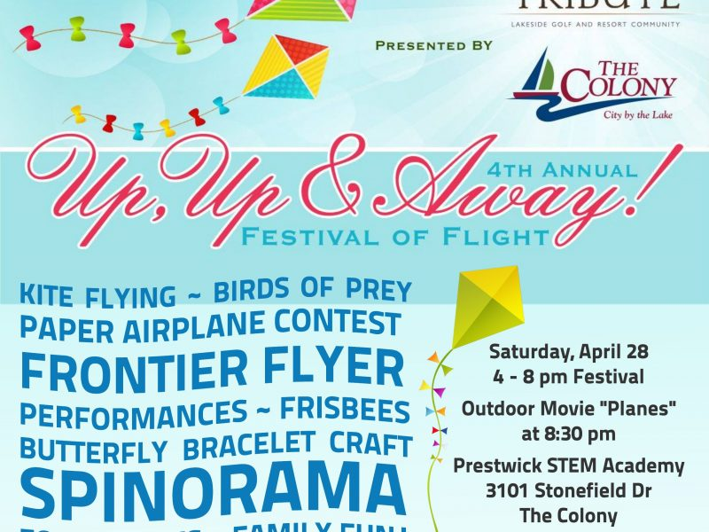 Up, Up & Away! Festival of Flight to take place Saturday, April 28